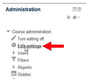 Edit Settings Link