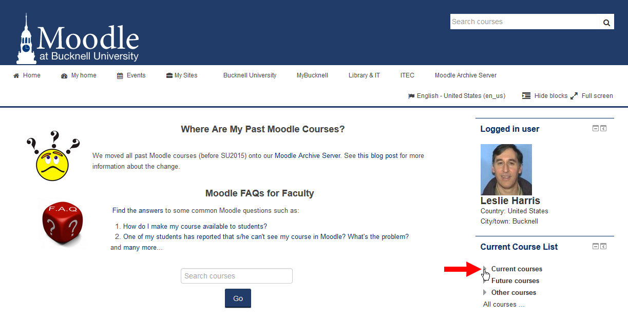 How Do I Find My Current Moodle Courses?