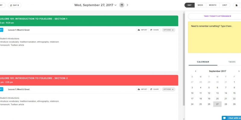 Planboard: A Free Lesson Planning App